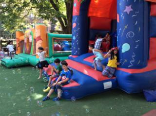 Bouncy Castle and Bubbles fun day