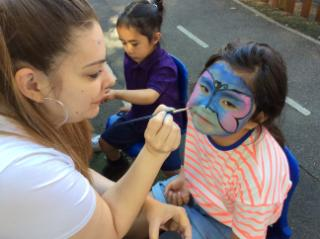 Face Painting at the fun day